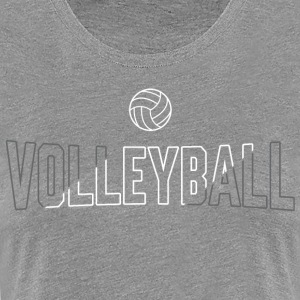 Volleyball Ball Slash - Women's Premium T-Shirt