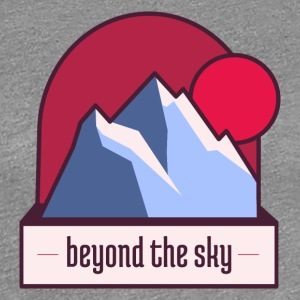 Nepal Mountain Beyond the Sky - Women's Premium T-Shirt
