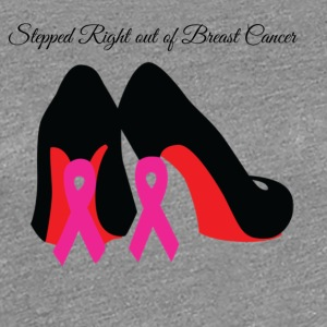 Survivors'Red Bottom Pink Ribbon Stilettos - Women's Premium T-Shirt