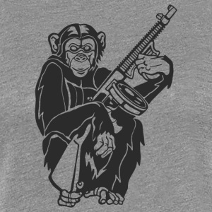 Chimp With A Gun - Women's Premium T-Shirt