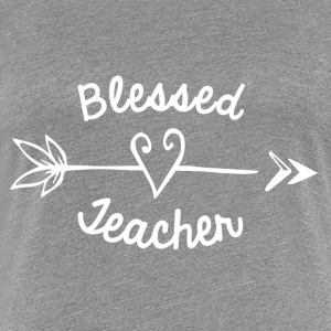 Blessed Teacher with Arrow and Heart - Women's Premium T-Shirt