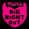 MOM's BIG NIGHT OUT! devil horns cute  - Women's Premium T-Shirt