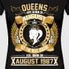 The Real Queens Are Born On August 1987 - Women's Premium T-Shirt