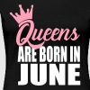 queens are born in june - Women's Premium T-Shirt