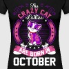 The Crazy Cat Ladies Are Born In October - Women's Premium T-Shirt