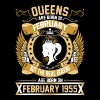 The Real Queens Are Born On February 1955 - Women's Premium T-Shirt