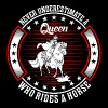 Never Underestimate A Queen Who Rides A Horse - Women's Premium T-Shirt