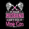 Husband - If your husband can't fix it mine can - Women's Premium T-Shirt