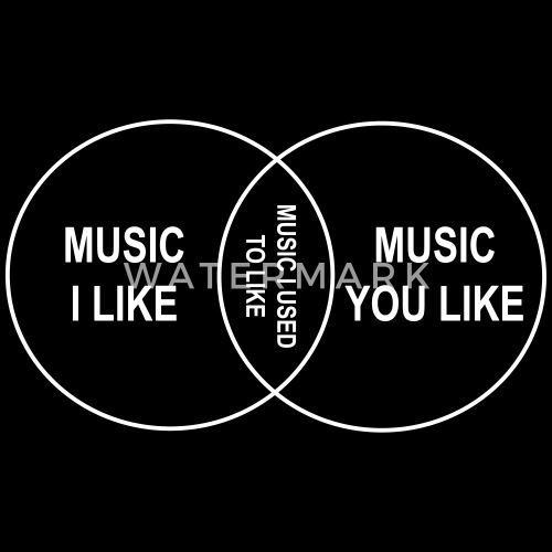 Venn Diagram Music I Like By Relief Spreadshirt