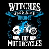 Motorcycle Witch Broom - Women's Premium T-Shirt