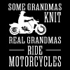 Some Grandmas Knit Real Grandmas Ride Motorcycle - Women's Premium T-Shirt