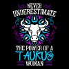 Never Underestimate The Power Of A Taurus Woman - Women's Premium T-Shirt