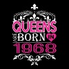 Queens Are Born In 1968 Happy Mothers Day - Women's Premium T-Shirt