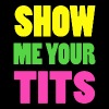 Show Me Your Tits Neon Design - Women's Premium T-Shirt