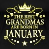 The Best Grandmas Are Born In January - Women's Premium T-Shirt