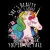 Unicorn she's beauty she's grace - Women's Premium T-Shirt