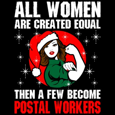 All Women Are Created Equal  Become Postal Workers - Women's Premium T-Shirt