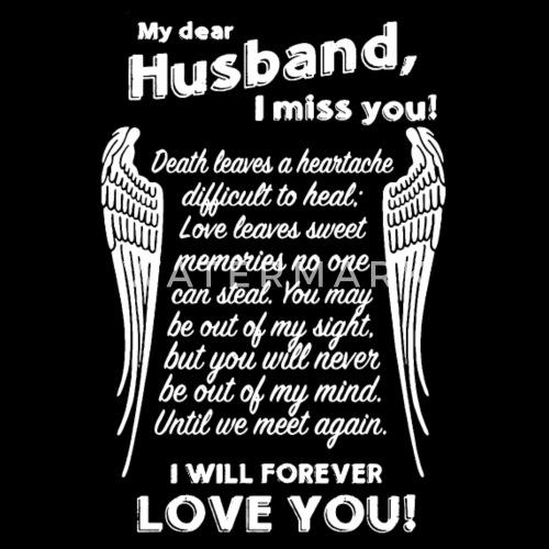 My Husband I Miss You Womens Premium T Shirt Spreadshirt