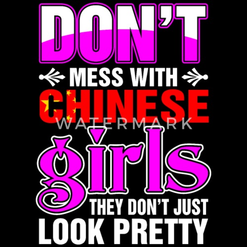 Chinese Girls Look Pretty Womens Premium T Shirt Spreadshirt