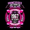 Princesses Are Born On September 1967 50 Years - Women's Premium T-Shirt