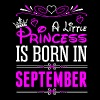 A Little Princess Is Born In September - Women's Premium T-Shirt