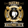 The Real Queens Are Born On November 1987 - Women's Premium T-Shirt