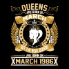 The Real Queens Are Born On March 1986 - Women's Premium T-Shirt