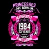 Princesses Are Born On August 1984 33 Years - Women's Premium T-Shirt