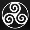 circled triskelion 11 - Women's Premium T-Shirt