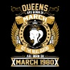 The Real Queens Are Born On March 1980 - Women's Premium T-Shirt