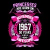 Princesses Are Born On November 1967 50 Years - Women's Premium T-Shirt