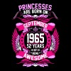 Princesses Are Born On September 1965 52 Years - Women's Premium T-Shirt