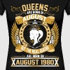 The Real Queens Are Born On August 1980 - Women's Premium T-Shirt