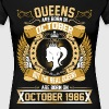 The Real Queens Are Born On October 1986 - Women's Premium T-Shirt