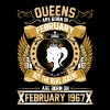 The Real Queens Are Born On February 1967 - Women's Premium T-Shirt