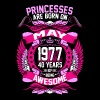 Princesses Are Born On May 1977 40 Years - Women's Premium T-Shirt