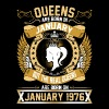 The Real Queens Are Born On January 1976 - Women's Premium T-Shirt