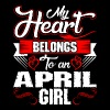 My Heart Belongs To An April Girl - Women's Premium T-Shirt