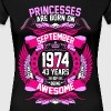 Princesses Are Born On September 1974 43 Years - Women's Premium T-Shirt