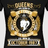 The Real Queens Are Born On October 1987 - Women's Premium T-Shirt