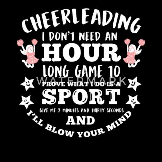 6c59e05a Funny Cheerleader Quote Cheerleading Football Gift Women's Premium T ...