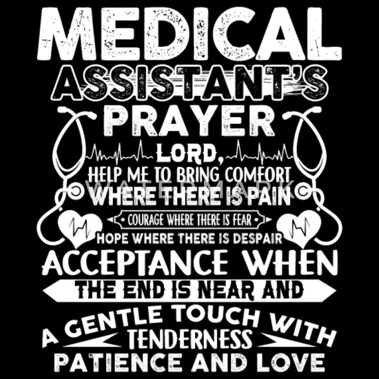 Medical Assistant's Prayer Shirt Women's Premium T-Shirt