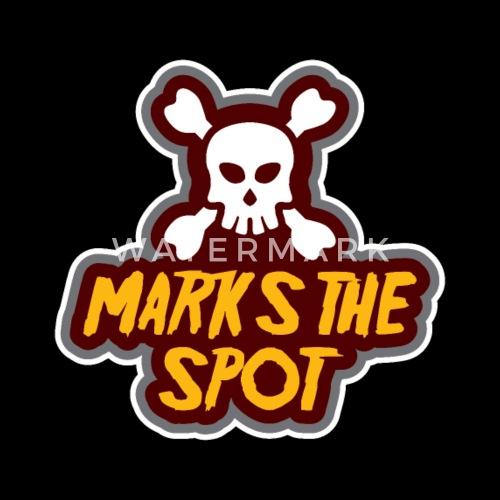cccdf831 Death Skull Marks the Spot gift pirate Women's Premium T-Shirt ...