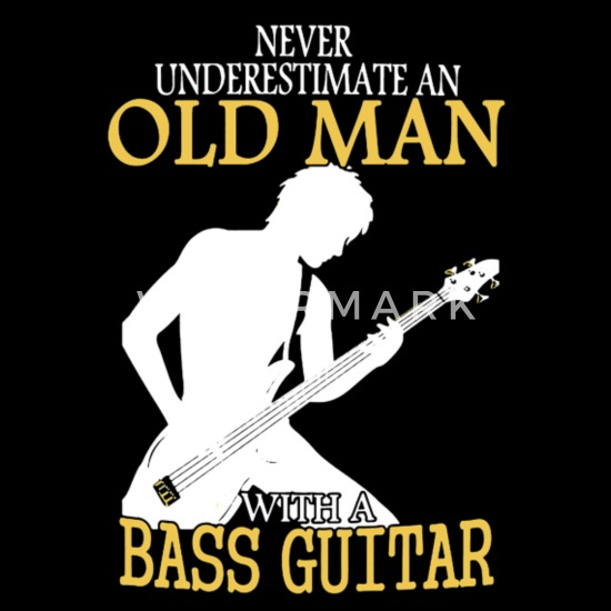 Custom Bass Player Never Underestimate A Grandpa Who Standard Unisex T-shirt