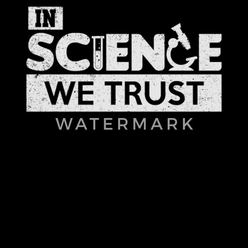 f670afd4 In Science We Trust Funny Scientist T-Shirt - Women's Premium T-Shirt.  Back. Back. Design