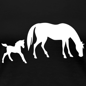 Horse with foal - Women's Premium T-Shirt