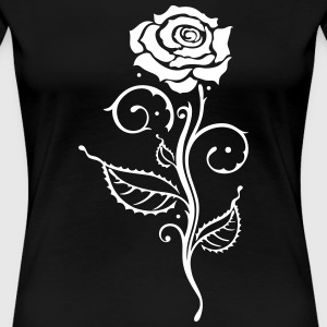 Beautiful rose with leaves. - Women's Premium T-Shirt