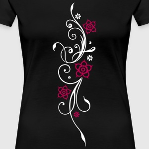 Beautiful, filigree flowers. Floral element. - Women's Premium T-Shirt