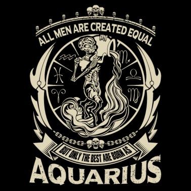 Aquarius - Aquarius Facts Men's Tall T-Shirt - black