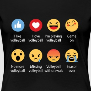 Volleyball emojication funny - Women's Premium T-Shirt